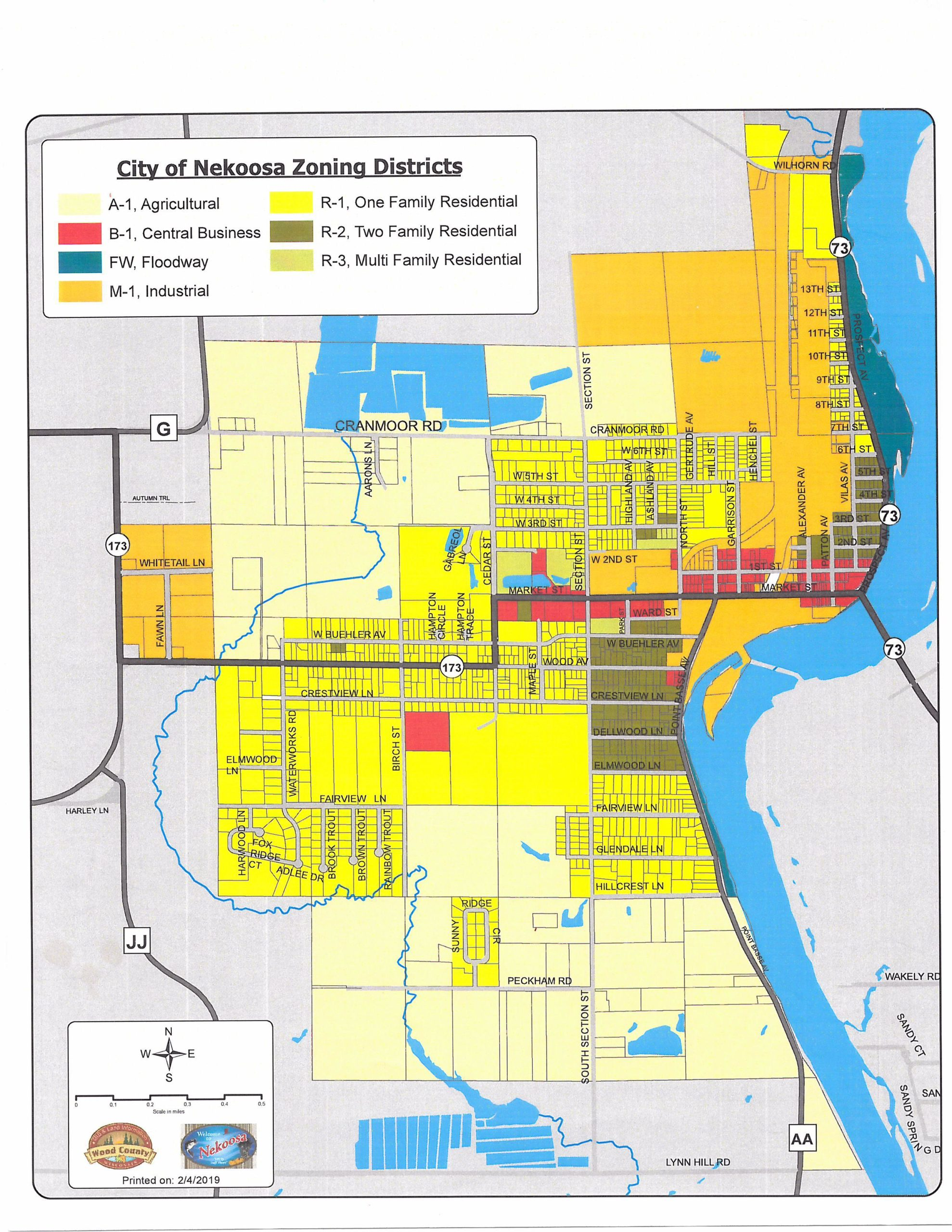 City-of-Nekoosa-Zoning-Map